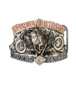 Roam Wild RUNFREE Harley-Davidson H419 Belt Buckle