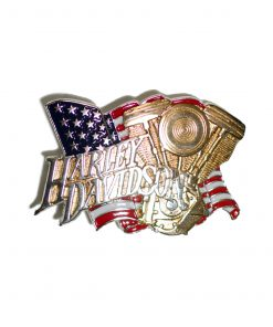 Harley Davidson Evo Engine / Chrome H527 Baron Belt Buckle 1