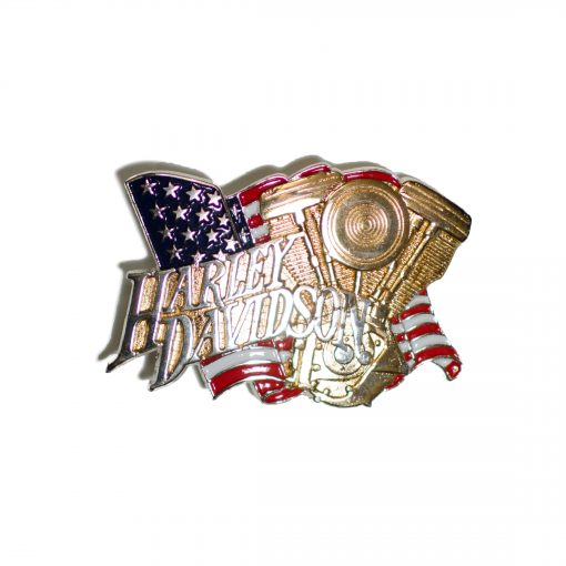 Harley Davidson Evo Engine / Chrome H527 Baron Belt Buckle 1