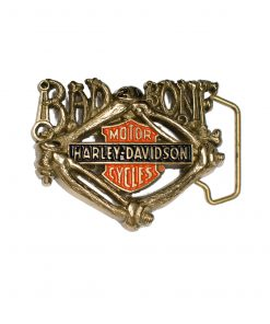 Bad Bone Harley-Davidson H540 Solid Brass Belt Buckle