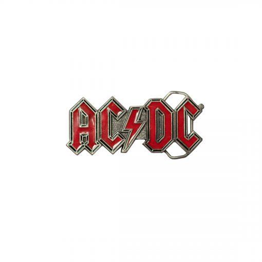AC/DC Red Belt Buckle