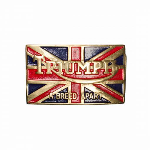 Triumph Belt Buckle with Union Jack
