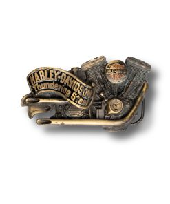 Harley Davidson engine buckle